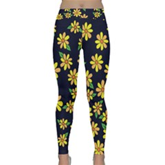 Daisy Flower Pattern For Summer Yoga Leggings