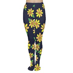 Daisy Flower Pattern For Summer Women s Tights