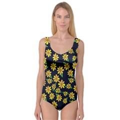 Daisy Flower Pattern For Summer Princess Tank Leotard