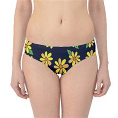 Daisy Flower Pattern For Summer Hipster Bikini Bottoms