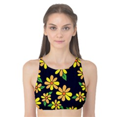 Daisy Flower Pattern For Summer Tank Bikini Top
