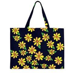 Daisy Flower Pattern For Summer Large Tote Bag