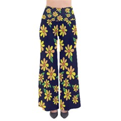 Daisy Flower Pattern For Summer Pants
