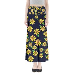 Daisy Flower Pattern For Summer Maxi Skirts