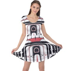 Ethnic Traditional Art Cap Sleeve Dresses