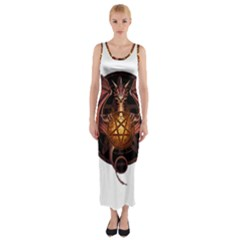 Fantasy Dragon Fitted Maxi Dress