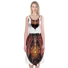 Fantasy Dragon Midi Sleeveless Dress