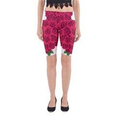 Floral Heart Yoga Cropped Leggings