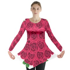 Floral Heart Long Sleeve Tunic