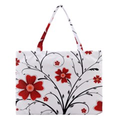 Flower Vector Art Medium Tote Bag
