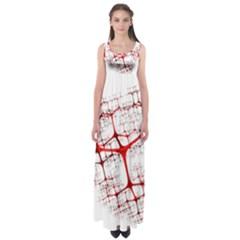Fractal Heart Empire Waist Maxi Dress