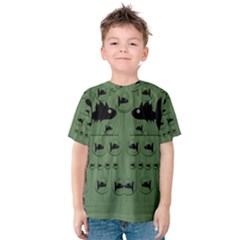 Pescado Fish Con Pasta And Baby Fishes Kids  Cotton Tee