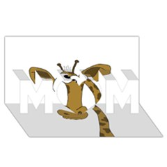 Giraffe  MOM 3D Greeting Card (8x4)