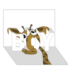 Giraffe  BOY 3D Greeting Card (7x5)