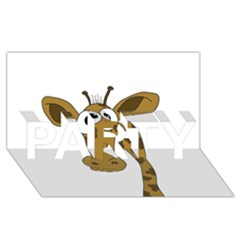 Giraffe  PARTY 3D Greeting Card (8x4)