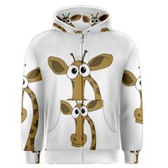 Giraffe  Men s Zipper Hoodie
