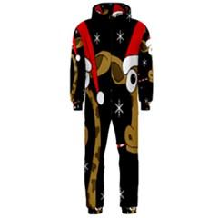Christmas giraffe Hooded Jumpsuit (Men)