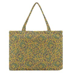 Modern Abstract Ornate Pattern Medium Zipper Tote Bag