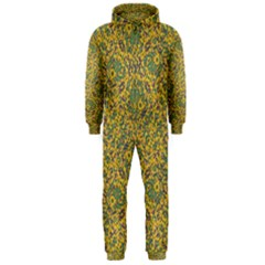 Modern Abstract Ornate Hooded Jumpsuit (Men)