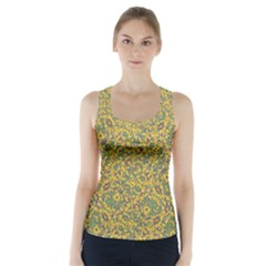 Modern Abstract Ornate Racer Back Sports Top