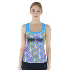 Colorful Retro Geometric Pattern Racer Back Sports Top