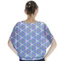 Colorful Retro Geometric Pattern Batwing Chiffon Blouse View2