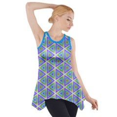 Colorful Retro Geometric Pattern Side Drop Tank Tunic