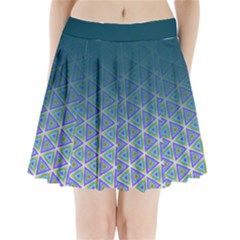 Ombre Retro Geometric Pattern Pleated Mini Skirt