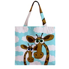 Just the two of us Zipper Grocery Tote Bag