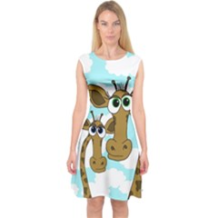Just the two of us Capsleeve Midi Dress