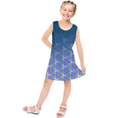 Ombre Retro Geometric Pattern Kids  Tunic Dress