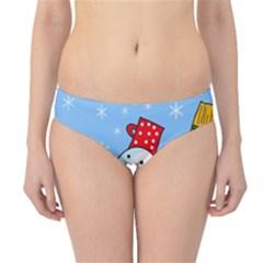 Snowman Hipster Bikini Bottoms