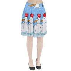 Snowman Pleated Skirt