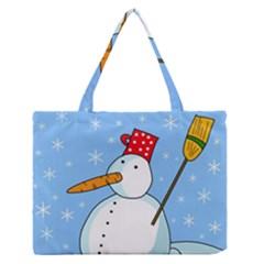 Snowman Medium Zipper Tote Bag