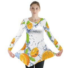 Fruits Water Vegetables Food Long Sleeve Tunic
