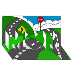 Hit the road MOM 3D Greeting Card (8x4)