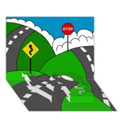 Hit the road LOVE Bottom 3D Greeting Card (7x5)