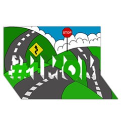 Hit the road #1 MOM 3D Greeting Cards (8x4)