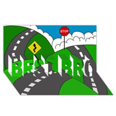 Hit the road BEST BRO 3D Greeting Card (8x4)