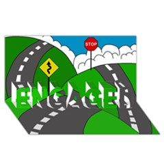 Hit the road ENGAGED 3D Greeting Card (8x4)