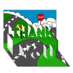 Hit the road THANK YOU 3D Greeting Card (7x5)