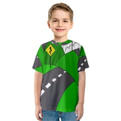 Hit the road Kids  Sport Mesh Tee