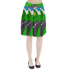 Hit The Road Pleated Skirt