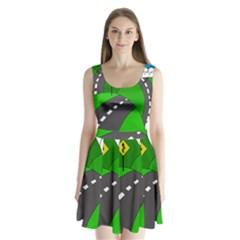 Hit the road Split Back Mini Dress