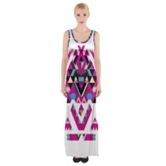 Geometric Play Maxi Thigh Split Dress