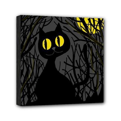 Black cat - Halloween Mini Canvas 6  x 6