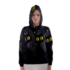 Black cat - Halloween Hooded Wind Breaker (Women)
