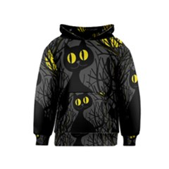 Black cat - Halloween Kids  Pullover Hoodie