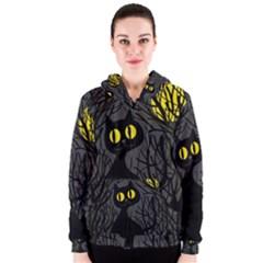 Black cat - Halloween Women s Zipper Hoodie