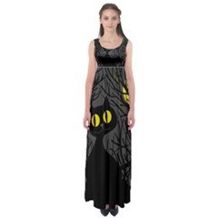 Black cat - Halloween Empire Waist Maxi Dress